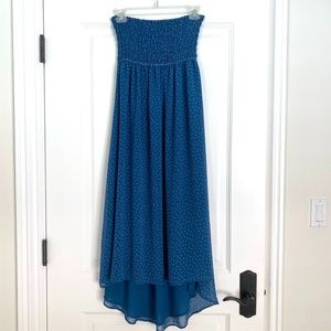 Strapless Summer Maxi Dress - S
